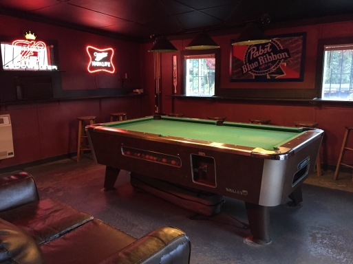 pool table in burger bar asheville nc